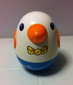 Vtg Playskool Weeble Wobble Roly Poly Baby Toy Chime Musical Bird Egg Chicken  E-bay sold $6.50/5.84 shipping.  ($3.00)