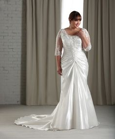 At Sydney's Closet, we ensure that these plus size wedding dresses fit and flatter every curvy bride. Browse our selection of casual & formal wedding gowns. Plus Size Wedding Dresses With Sleeves, Plus Size Wedding Gowns, Plus Size Dresses, Curvy Bride, Occasion Dresses, Party Dresses, Dresses 2013, Lace Dresses, Bridal Gowns