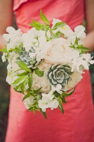 coral and sage wedding