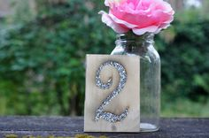 Engraved  Rustic Wedding Table Numbers Glitter Table Number Country Chic barn…