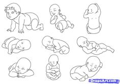 How to Draw a Newborn Baby, Step by Step, Figures, People, FREE Online Drawing Tutorial, Added by MauAcheron, September 9, 2011, 7:12:59 pm