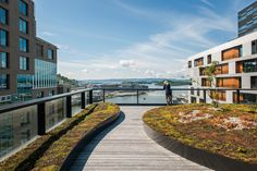 Stunning DnB Building looks like a green-roofed stairway to heaven in Norway