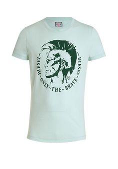Cooles T-Shirt mit Print-lindgrün von DIESEL bei OUTLETCITY.COM bestellen.