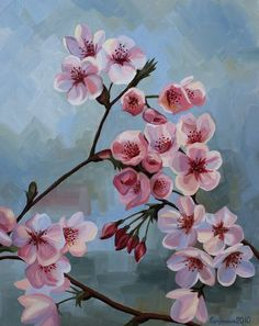 folk art decorative painting cherry blossom - Google Search