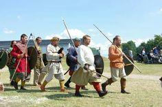 Viking warriors in Trelleborg Denmark