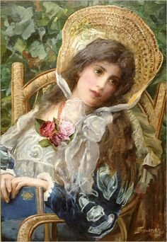 Contemplation (1901) by Isaac Snowman (1874-1947)