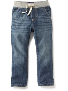 Relaxed Pull-On Jeans
