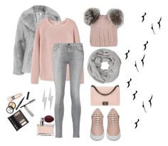 """""""Tumblr Winter"""" by mstewart3 ❤ liked on Polyvore featuring Jakke, MANGO, 7 For All Mankind, Eugenia Kim, John Lewis, Chanel, Filling Pieces, Edge Only, Prada and Borghese"""