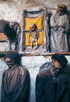catacumbas de los Capuchinos ubicada en Palermo, Sicilia (Italia)