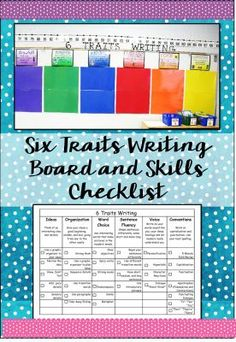 6 Traits Writing Board and  FREE Checklist - This checklist is a must have if you teach with the 6 Traits Writing Framework!