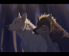 """From the anime """"Ginga Densetsu Weed"""", Tesshin and Akame. Feral Heart, Anime Wolf Drawing, Cartoon Wolf, Wolf Character, Fantasy Wolf, Wolf Love, Wolf Pictures, Mystique, Anime Animals"""
