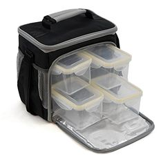Meal Prep Lunch Box Including 4 Containers and 1 Ice Pack by MaxPak -- Want to know more, click on the image.-It is an affiliate link to Amazon. #KitchenUtensils