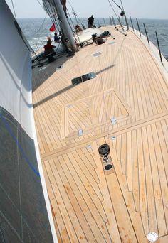 A beautiful teak deck.