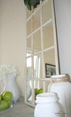 If you love Joanna Gaines and Farmhouse decor then check out this Ikea mirror hack to get farmhouse home accents for cheap. Hang this Ikea mirror in your hallway, bedroom, living room or place on a dresser. Diy Home Decor Easy, Trendy Home Decor, Inexpensive Home Decor, Cheap Home Decor, Hack Ikea, Ikea Mirror Hack, Window Mirror, Diy Mirror, Mirror House