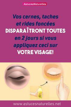 Vos cernes, taches et rides foncées disparaîtront toutes en 2 jours si vous appliquez ceci sur votre visage!