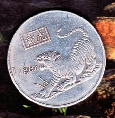 Large old rare Chinese commemorative Year of the Tiger coin