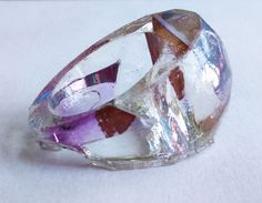 Solid resin ring - CD shards - Crystal theme-iridescent : Size Medium - Large by FrancescaRoseJ on Etsy