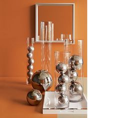 "6"" $14.95  &  10"" $29.95 stainless steel spheres  