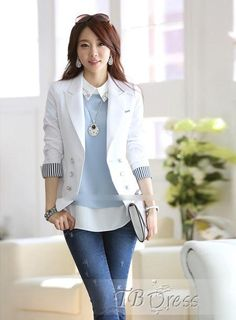 Fashion Slim Large Size Long Sleeves Blazer