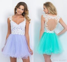2017 Cheap Turquoise Lilac Homecoming Dresses V Neck Cap Sleeve Tulle Lace Appliques Beaded Short Mini Sheer Back Cocktail Dress Party Gowns Homecoming Dress Custom Made 2017 Homecoming Dresses Short Party Dress Online with 100.58/Piece on Haiyan4419's Store   DHgate.com