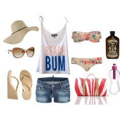 beach bum summer!, created by juarezcourtney on Polyvore