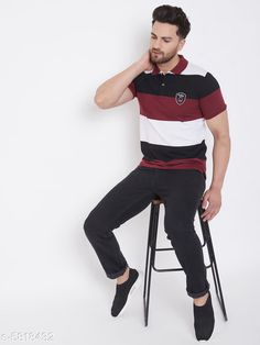 Tshirts Designer  Cotton Blend Tshirts Fabric: Cotton Blend Sleeve Length: Short Sleeves Pattern: Striped Multipack: 1 Sizes: S (Chest Size: 38 in Length Size: 27 in)  XL (Chest Size: 44 in Length Size: 28.5 in)  L (Chest Size: 42 in Length Size: 28 in)  M (Chest Size: 40 in Length Size: 27.5 in)  XXL (Chest Size: 46 in Length Size: 29 in)  XXXL (Chest Size: 48 in Length Size: 29.5 in) Country of Origin: India Sizes Available: S, M, L, XL, XXL, XXXL   Catalog Rating: ★4.1 (482)  Catalog Name: Pretty Partywear Men Tshirts CatalogID_876906 C70-SC1205 Code: 713-5818432-927