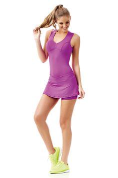 dcde12c333 Produto - Macaquinho Saia Trend Roxo Caju Brasil 4103f7 - Fit You -  Fashion