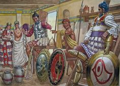 Carthaginian officers enjoying some hard earned rest and recreation.