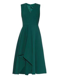 Asymmetric-hem midi dress | Alexander McQueen | MATCHESFASHION.COM US