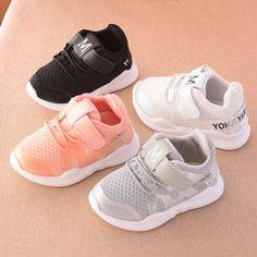 80b562b9eddb9 2018 automne nouveau mode net respirant rose loisirs sport chaussures de  course pour filles blanc chaussures pour garçons marque enfants chaussures