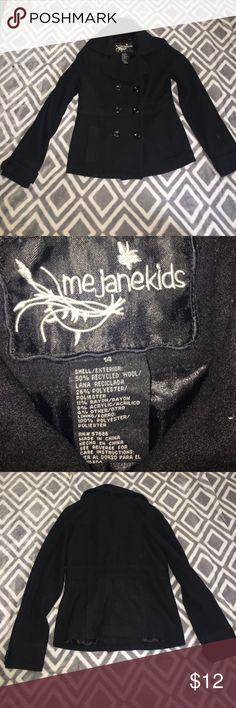 Girls Black Pea Coat Black girls Pea coat size 14! me jane kids Jackets & Coats Pea Coats