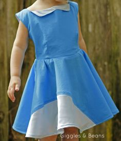 blue-voile-circle-skirt-dress for Project Run and Play