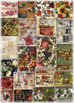 Big collection backgrounds – Vintage flax
