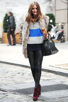 how-to-wear-a-fur-vest-leather-skinny-pants-olivia-palermo