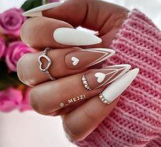Glam Nails, Classy Nails, Stylish Nails, Trendy Nails, Stiletto Nails, Best Acrylic Nails, Acrylic Nail Designs, Nagellack Design, Acylic Nails