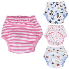 4 styles Baby Diaper Washable Reusable nappies changing cotton training pant Can Tracked happy cloth diaper 0-24M