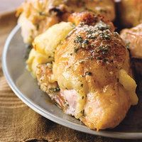 Mashed-Potato-Stuffed Chicken|  http://www.rachaelraymag.com/Recipes/rachael-ray-magazine-recipe-search/dinner-recipes/mashed-potato-stuffed-chicken