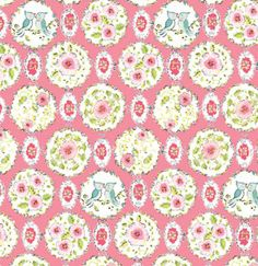 Dena Designs London Brighton Birds Pink Circles, Free Spirit Fabrics by the Yard. $8.75, via Etsy.