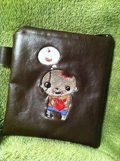 Sweet Little Zombie Faux Leather Zippered Pouch on Etsy, $5.00
