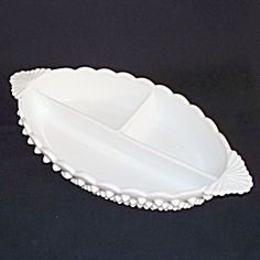 Fenton Milk Glass Hobnail Divided Relish. Click on the image for more information.
