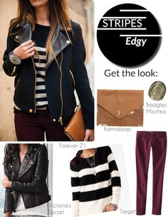 3 ways to wear stripes| The edgy look