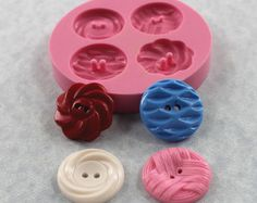 Vintage Button Casting Mold Flexible Silicone by MoldMuse on Etsy