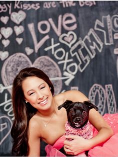 valentine photo shoot with bff puppy