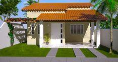 Although historical inside concept, the actual pergola may be experiencing a bit of a present Bungalows, Garage Ouvert, Pergola, Mexico House, Villa, Backyard, Patio, Facade House, Simple House
