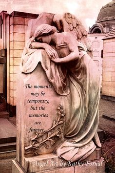 Angel Art Memory Note Card  Angel Crying Mourning by KathyFornal, $6.00