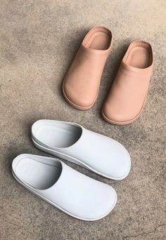 Contour Mule in Bone Walk On, Smooth Leather, Barefoot, Contour, Bones, Slip On, Cut Paper, Sneakers
