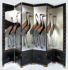 Art Déco screen | Room divider |  Paravent - Grues