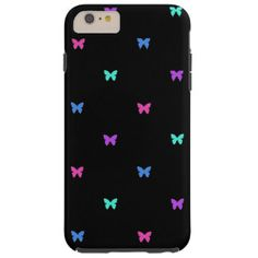 Colorful Butterfly Prints Tough iPhone 6 Plus Case  #butterflyPrints #iPhone #colorful