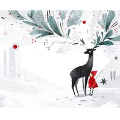 Children book illustration on Behance Inspiration Artistique, Children's Book Illustration, Watercolor Illustration Children, Christmas Illustration Design, Guache, Illustrations And Posters, Christmas Art, Storyboard, Watercolor Art