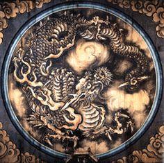 Zen:art:雲 龍 図(狩野探幽筆 江戸時代 重要文化財 法堂)
